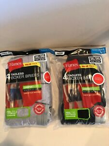 Hanes Tag less Boxer Briefs 8 Pack Mens Assorted Colors & Bands 2XL 3XL 4XL !!