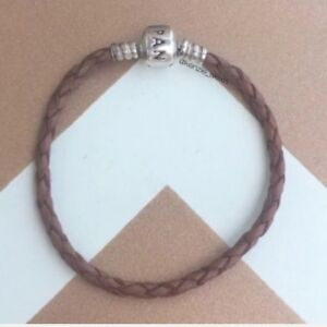 Pandora Leather Bracelet Brown 6.9 inches 590705CBN-S1