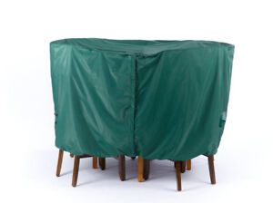 Round Dining Table Chair Set Cover Green # 87311 120D x 30h Classic Green