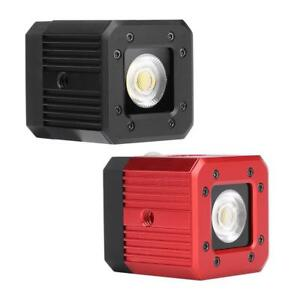 20m Diving LED Photography Fill Light 3200K-5600K Dimmable Flash Lamp for Gopro