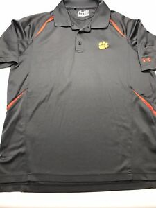 Clemson Tigers Mens Under Armour Heat Gear Loose Fit Golf Polo Sz Med