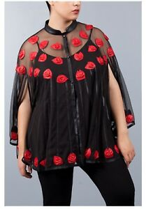 Jean Marc Philippe Jacket  Cape Leather Plus Size 2022 Black  Red Color