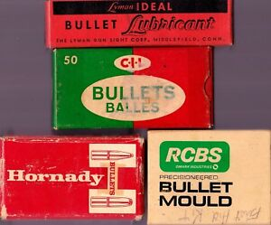 Ammo Boxes Lot of 4 CIL Dominion Ideal Lube Bullet Mould Hornady meau18
