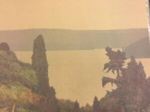 RUSSELL CHATHAM Signed PUGET SOUND THROUGH TREES Numbered LITHOGRAPH 1 of 275 $99.00