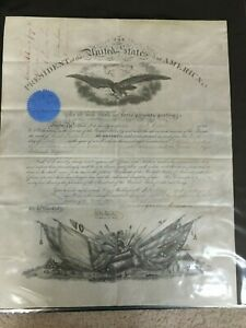 VERY DAY LINCOLN DIES - 4151865 - Andrew Johnson SIGNED Civil War Appointment