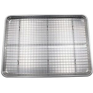 Cookie Sheet Baking & Sheets And Rack Set - Aluminum Half Pan With Stainless