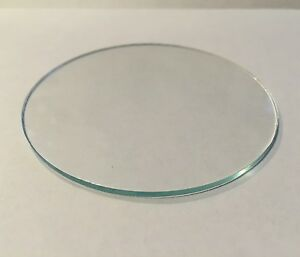 Clear Glass Disk Glass Lens cut to size between 3 inch through 5 inches $3.25