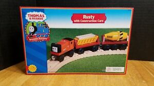 NEW Thomas & Friends Train Friends Rusty with Construction Cars Real Wood 2001