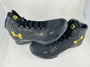STEPHEN CURRY SIGNED UNDER ARMOUR CURRY 1 SHOES 2015 NBA MVP FANATICS COA