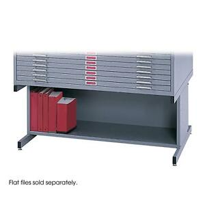 Safco Products 4977GR Flat File High Base for 5-Drawer 4996GRR and 10-Drawer