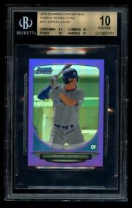 2013 Bowman Chrome Aaron Judge 5 Mini Purple Refractor Rookie BGS 10 Pristine