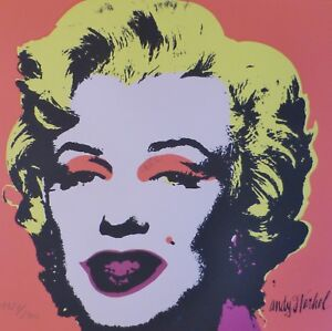 ANDY WARHOL MARILYN MONROE 1986 HAND NUMBERED 11272400 LITHOGRAPH signed