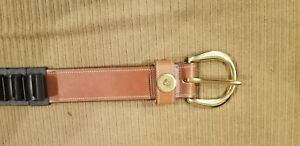 NEW- Men's Orvis English Bridle Leather Belt with 25 Removable Shotshell Holders