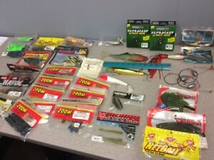 Huge NOS lot of Fishing stuff. Lures Bait by Zoom Kalin's other.