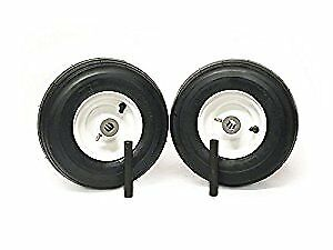 (2) Universal 11x4.00-5 Ribbed Caster Wheel Assembly 34