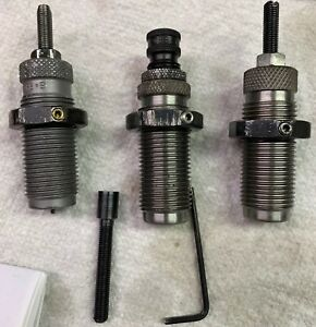 RCBS 9mm Carbide sizer taper crimp 3 die set used. #20509