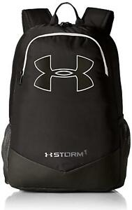 Under Armour Boy's Storm Scrimmage Backpack Black White(1277422 001)