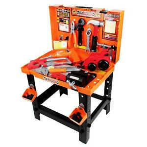 Boley Builders Construction Toy Tools Set Workbench 88 Piece Hammer Screwdriver