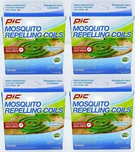 4 Boxes Pic Mosquito Repelling Coils For Outdoor Use (Total 16 Coils)