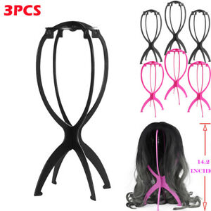 3PCS Short Wig Stands Durable Portable Detachable Wig Dryer Holder For Wigs