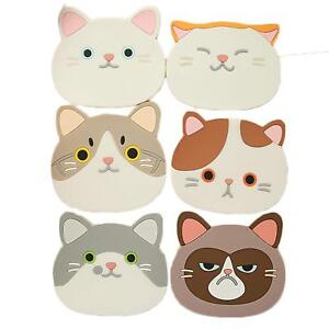 JLHua Finger Ring Silicone Multi-Use Cartoon Cat Trivet (Set of 6 Pack) Insulate