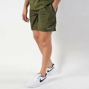 """MENS NIKE PRINTED CHALLENGER 7"""" RUNNING SHORTS W LINER  SIZE L  AH0538 355"""
