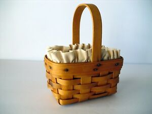 Longaberger 1995 Horizon of Hope Basket, Natural Liner & Protector