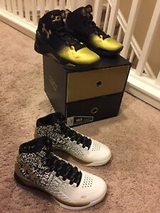 Under Armour Curry One & Curry Two MVP B2B Pack Stephen Curry 2x MVP Men Sz 10.5