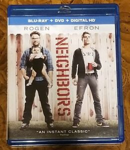 Neighbors Blu-ray + DVD 2 Disc Set USED Very Good Condition $5.00! Seth Rogen