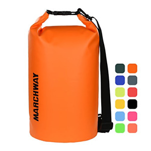 MARCHWAY Floating Waterproof Dry Bag 5L10L20L30L Roll Top Dry Sack for Deep