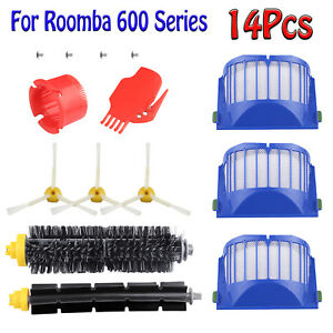 Replacement Parts Kit For iRobot Roomba 600 Series Vacuum Filter Brush Cleaner
