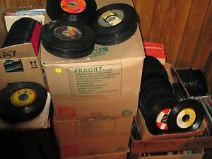 MIXED LOT 100 - 45 RPM VINYL RECORDS 60's / 70's and maybe a few 80's great lot