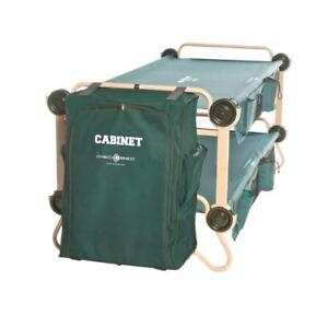 Green Polyester 2-pack 40 in. Bunkable Camping Cots Beds with Hanging Cab