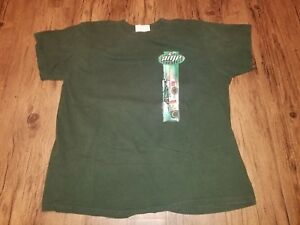 Vintage Nascar Dale Jr Amp Energy T Shirt Green Size L Winners Circle