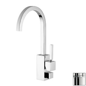 Stainless Steel 1-Handle High-Arc Counter Mount Contemporary Kitchen Faucet