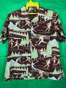 Vintage Polo by Ralph Lauren Sport All Over Print shirt XL P Wing Stadium RARE