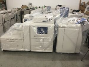 Xerox 4112 w OHCF & Light Pro finisher 112ppm (BookletsStaple2-3 Punch) 710k
