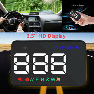 3.5'' A5 Auto GPS HUD Head-up Display Car Alarm Detector Real Time Speedometer