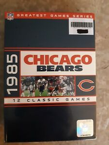 NFL Greatest Games Series 1985 Chicago Bears DVD Set 12 Classic Games Sealed