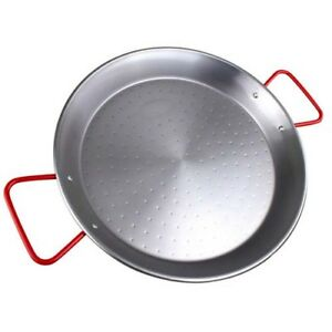 Pizza-Paella 36-In Oven Safe Carbon Steel Pan Cooking Bakeware Refrigerator Safe