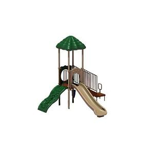 Durable BrownTan Powder Coated Plastic 4-ft Playground Playset Equipment