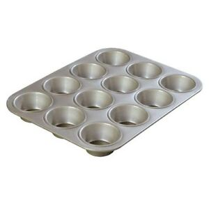 12-Cup Kitchen Aluminum Bakeware Cupcake Muffin Baking Pan Corrosion Resistant