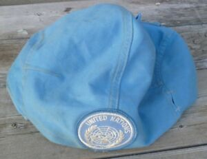 Genuine Canadian Peacekeeping Blue Helmet Cover Size Medium with Patch