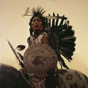 James Bama YOUNG PLAINS INDIAN 24x24 SN Anniversary Canvas Native American Art