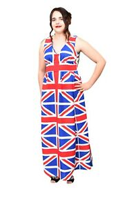 Union Jack Designer Evening Dress