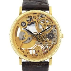 Universal Genève Automatic Yellow Gold Men's Vintage Watch skeleton Auth