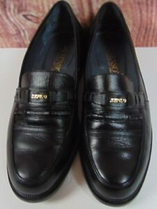 Senso Mens Dress Shoes Sz 7 Black Leather Gold Designer Q749H High End Aus