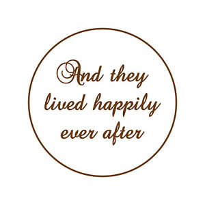 And They Lived Happily Ever After Fondant Embosser or Cookie Stamp Wedding Icing
