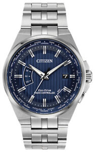 Citizen Eco Drive Men's A T World Time Blue Dial 42mm Watch CB0160 51L