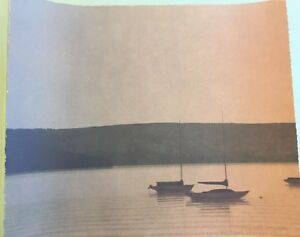 RUSSELL CHATHAM Signed STILL EVENING AT TOMALES BAY Numbered LITHOGRAPH 1 of 375